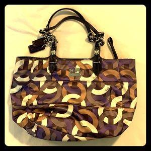 Purple and brown Coach purse
